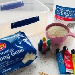 At-home Easy Activity: Rainbow Rice