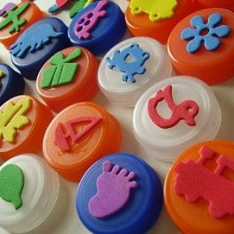 Top Teacher Tip #5: Make Your Own Stampers with Bottle Tops