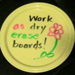Top Teacher Tip #3: Use Plastic Plates Like a Whiteboard