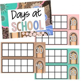 How Many Days at School Tens Frame Juguli