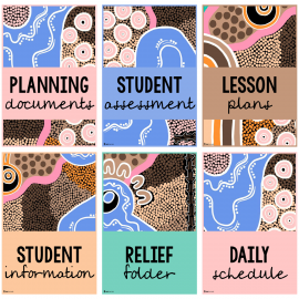 Teacher File Cover Pages and Spines Juguli